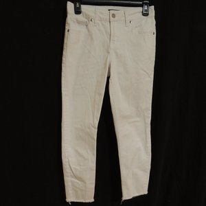 Silver Jeans Co. White Jeans Raw Hem Womens 26
